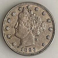 Antique 1883 V Nickle Liberty Nickle US Coin Estate Found