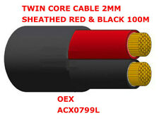 2mm Twin Core Sheathed Cable 2mm Sheathed Red & Black 100m Cable OEX ACX0799L