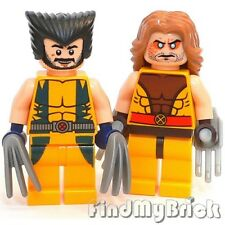 BM021 Lego Super Heroes Custom X-Men Wolverine & Sabertooth Minifigures NEW