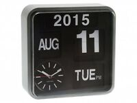 Large Auto Flip Calendar Wall Desk Table New Clock, Modern Digital Retro Vintage