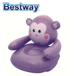 "Bestway Monkey Inflatable Chair  (Purple)- 31.5""x31.5""x28"""