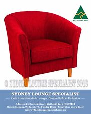 AUSTRALIAN MADE Ruth Tub Chair (Fabric Choices) Occasional Sofa Lounge