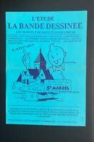 Affiche Tintin. L'été de la bande dessinée à St Marcel 1986