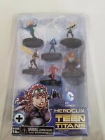DC COMICS HEROCLIX TEEN TITANS FAST FORCE SET 2013 MINT IN BOX! WIZKIDS! NECA!