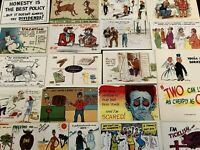 ~LOT of 25~COMIC POSTCARDS~HUMOR JOKES & GREETINGS~FUNNY~UNUSED---a991