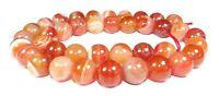 😏 Sardonyx Perlen Kugeln 10 mm orange rote Edelsteinperlen Strang für Kette 😉