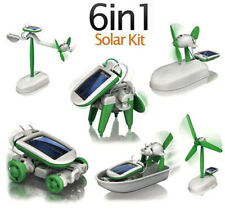 6in1 Creative DIY Car Boat Fan Plane Educational Solar Panel Powered Robot Kit