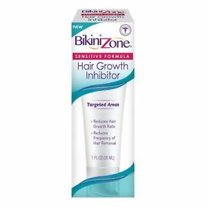 LOT OF 5 BIKINI ZONE HAIR GROWTH INHIBITOR - SENSITIVE FORMULA - 1oz EACH