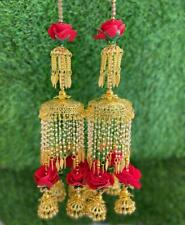 Bollywood Wedding Chura Flower Dulhan Set Bangle Bridal Set Pearl Jhumka Kalire