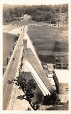 NORRIS DAM-TENNESSEE VALLEY AUTHORTY-ELEVATED CLEMENTS REAL PHOTO POSTCARD 1930s