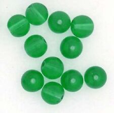 Czech Glass Beads Rounds Druk Green 6mm x 25