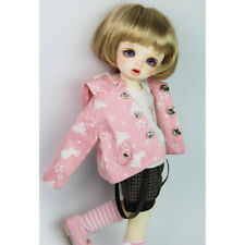 1/6 BJD Casual Trendy Long Sleeve Rabbit Hoodied Coat for SD DD Dollfie Pink