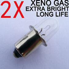 2 worklight Torch Bulbs 18V for Milwaukee Ryobi Hitachi Bosch XENON Gas Camping