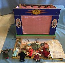 Vintage Karel Franta Puppet Fairy Tale Theater w/6 Marionettes Czech