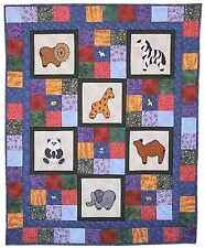 Safari Cot Quilt Pattern with hand made buttons from Nikki Tervo Designs