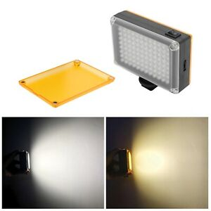 96LED Rechargable Video Light Photo Studio Fill Lamp DSLR Camera Camcorder