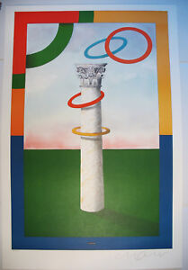 Olympic Poster/Savajevo 1984/Milton Glaser/RARE HAND-SIGNED & NUMBERED/Sports