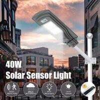 40W Radar LED Luz de Calle Lámpara Solar Farola Sensor Blanca Fria IP65