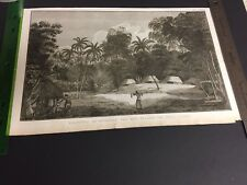 Large Copper engraving, Journal Of A Voyage Round The World, James Cook