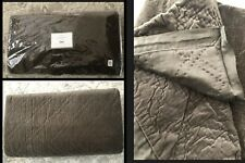 NEW Pottery Barn Washed Velvet King Quilt Diamond Velvet & Silk Brown $379