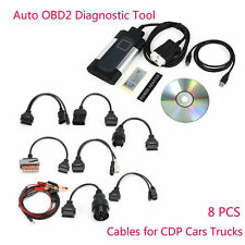 2016.00 TCS CDP Pro Plus for autocom Car Auto OBD2 Diagnostic Tool Kit+8 Cables