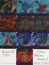 Complete 2003 Pokemon Advanced Action Flipz by ARTBOX! -  set of 46 cards!