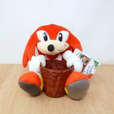 Sega 1996 Sonic the Hedgehog Knuckles Basket Plush Soft Toy Tag Japan Import 6""