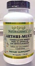 New Arthri-Multi 90 Capsulas 750mg Sulfato de Glucosamina Condroitina Arthritis