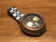 Vintage Seiko Brown Bullhead 6138-0040 Chronograph Mens Watch Works Needs Work