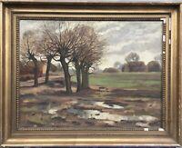 Impressionist Johan Jacobsen *1883 Weite Herbstlandschaft - Dänemark 59 x 74 cm