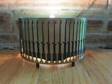vtg mid century Turquoise TV Lamp! 50s Retro Brass & Teal Ceramic Planter Light!