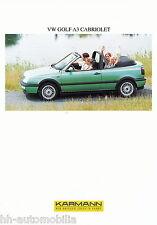 Karmann VW Golf A3 Cabriolet Prospekt 1995 D GB F brochure PKWs Auto Deutschland