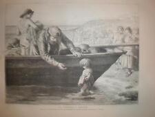 The Fisherman's Darling J D Watson child print 1871