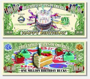 Happy Birthday Million Dollar Bills Makes a Fun Birthday Gift - Set of 100 Bills