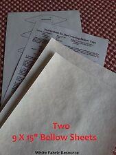 """2 sheets 9 by 15"""" Cuckoo Clock Bellow REPAIR KIT-Replacement Paper Material"""