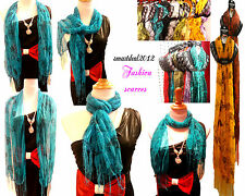 Wholesale 12 LOT Polyester Shawl Long Scarf Stole Wrap Women scarves