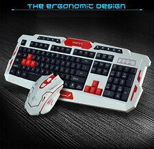 CityForm 8100 Ergonomic Gaming Keyboard + 2.4GHz Cordless Gamer Gaming Mouse Set