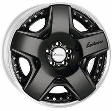 "Mercedes-Benz Lorinser OEM RSK6 21"" Wheels Staggered Two-Piece Black W221 W222"