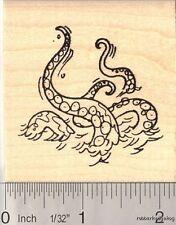 """Kraken """"sea monster"""" Rubber Stamp  H12310 WM"""