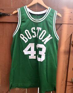 NBA Boston Celtics #43 Kendrick Perkins Jersey Sz L Stitched Letters Green Tank
