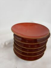 Nice set of 6 Japanese red lacquerware bowls 4