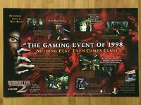 Resident Evil 2 PS1 Playstation 1 1998 Vintage Print Ad/Poster Official Promo