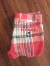 """JCREW 3"""" summer Plaid cotton short Size 0 NEW Multi-Color"""