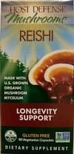 Fungi Perfecti Host Defense, Reishi 60 capsules, Organic, Longevity Support