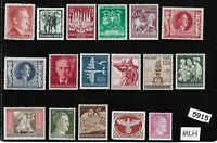 #5915    Mixed MLH stamp group / Adolph Hitler / Third Reich Germany Postage