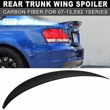 OE P-Style Carbon Fiber Trunk Spoiler Lip For BMW E82 118i 120d 135i 1M Coupe