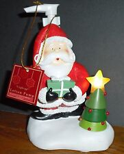 Large Santa Soap Pump Dispenser w/ Tree top star LED LIGHTS UP     NEW