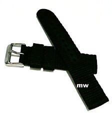 New Genuine 20mm Seiko Strap 4KC8JZ Black Nylon Strap Band Watch Original