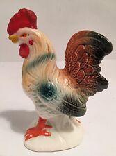 Vintage Rooster Pepper Or Salt Shaker/Colored Ceramic Figurine .