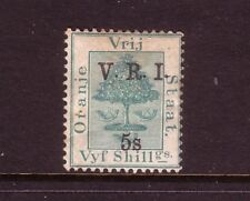 ORANGE FREE STATE....  1900  V.R.I. 5s on 5/- mint....cv £50
